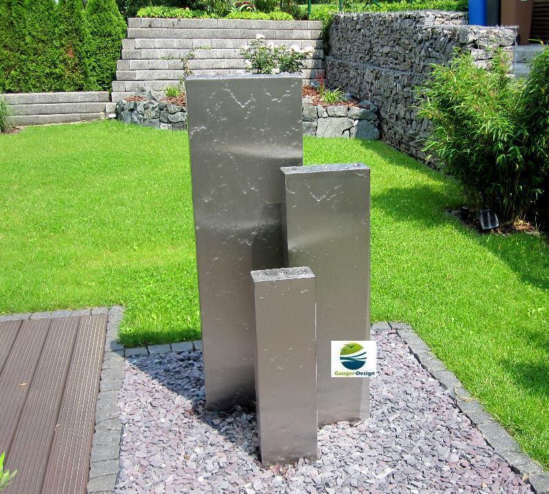 edelstahlbrunnen. Black Bedroom Furniture Sets. Home Design Ideas